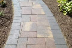 Curved Backyard paver path