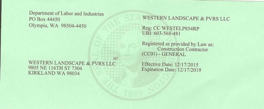 Western Landscaping License